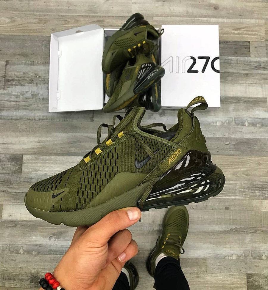 21eaffe4097 Nike Air Max 270  Triple Olive Canvas Golden Mass