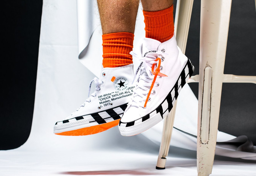 Off White x Converse Chuck 70 Stripe 'White Cone Black'