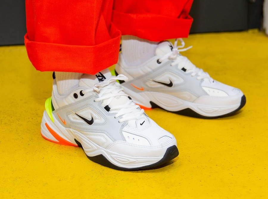 Nike M2K Tekno 'Pure Platinum Volt Orange'