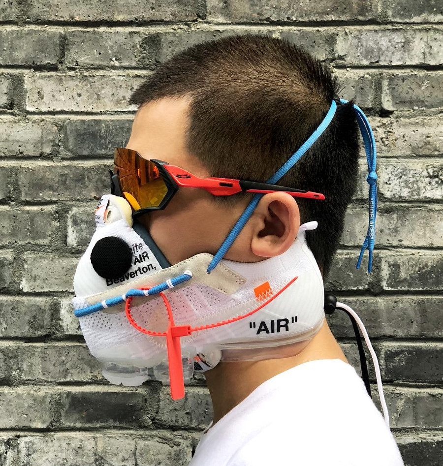 Masque Off White x Nike Air Vapormax Triple White - @zhijunwang