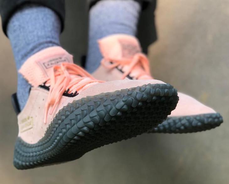 Adidas Kamanda DBZ Haze Coral Energy Ink Shock Yellow on feet (2)