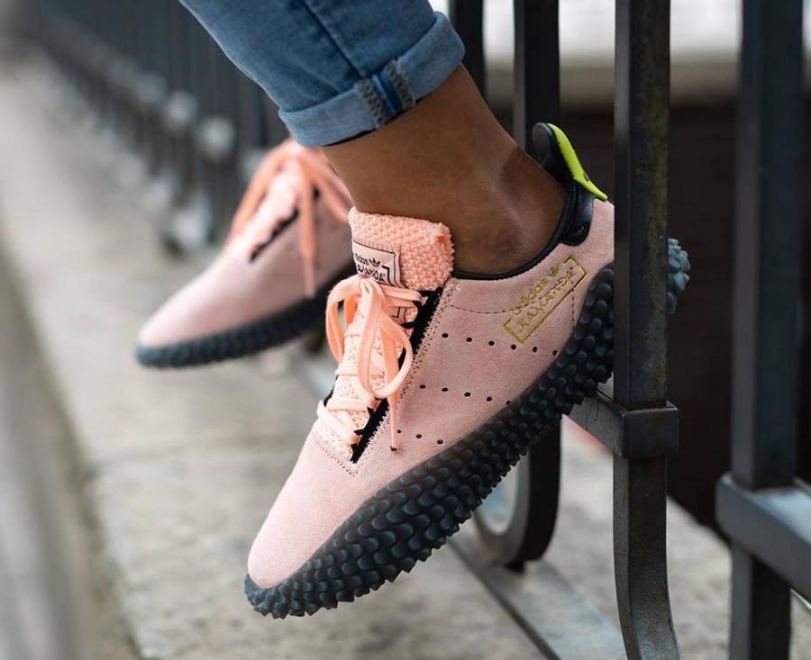Adidas Kamanda DBZ Haze Coral Energy Ink Shock Yellow on feet (4)
