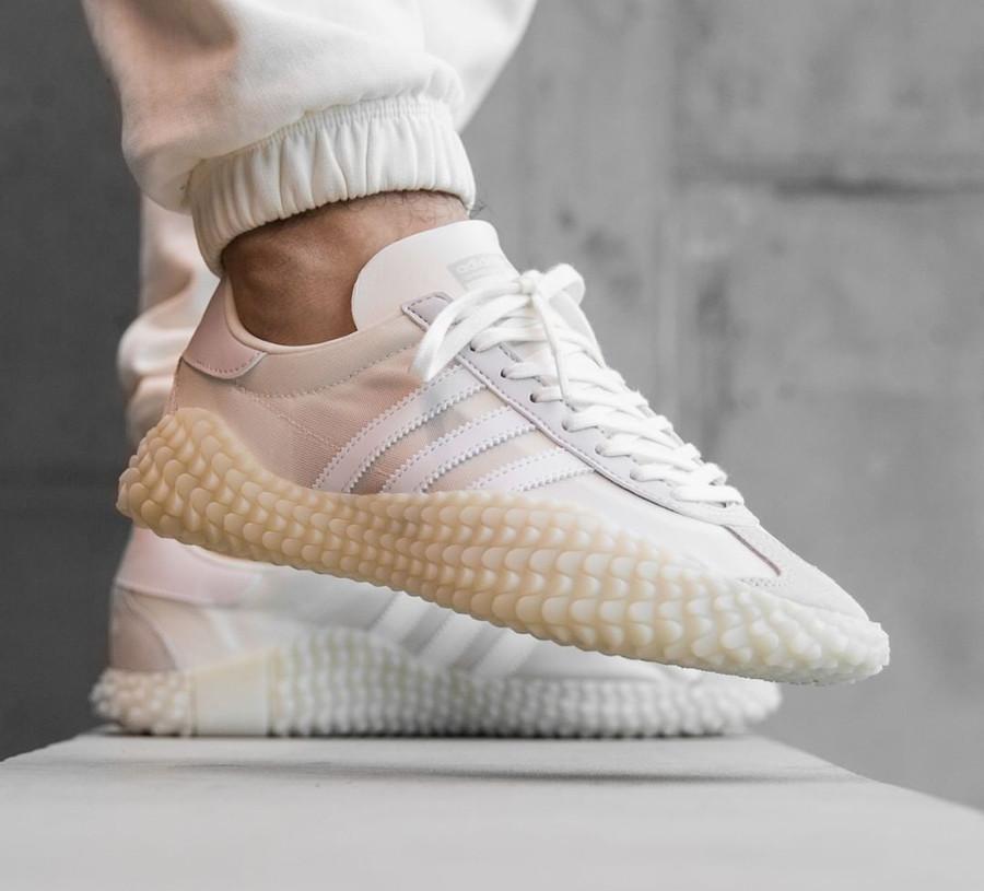 Adidas Kamanda x Country Cloud White Grey One on feet