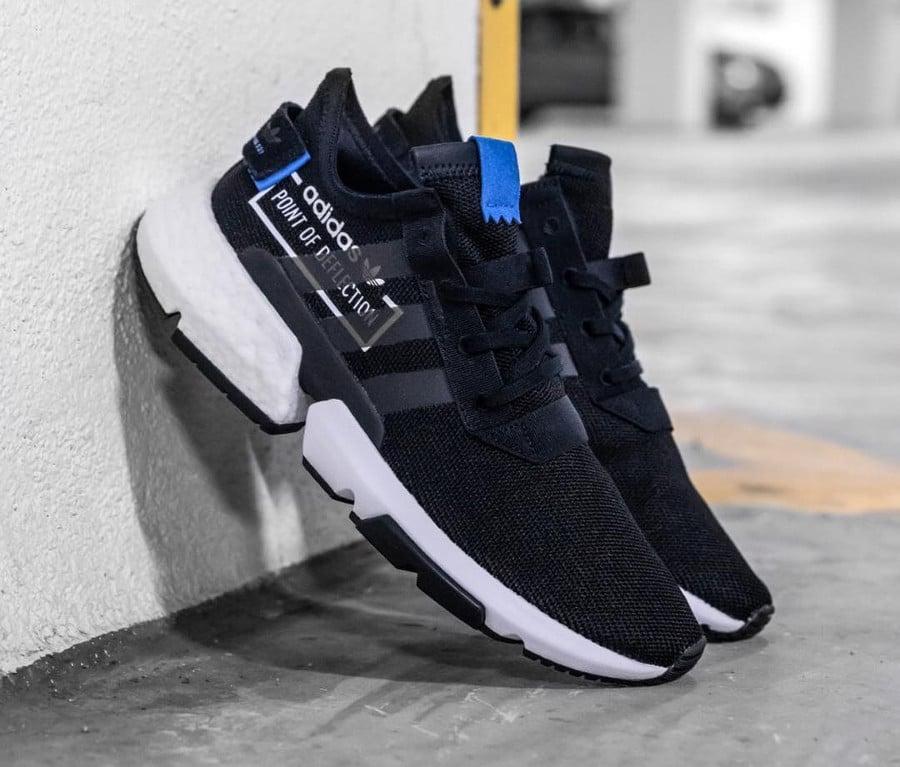 Adidas Pod S3 1 Alphatype noire et bleue on feet ( CG6884)
