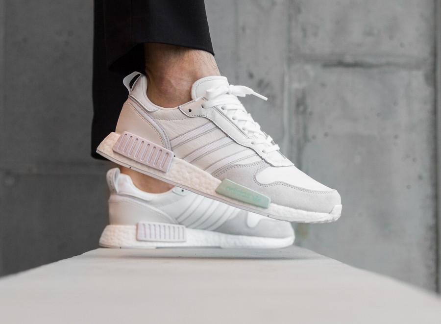 Adidas Rising Star x R1 Cloud White Grey One on feet