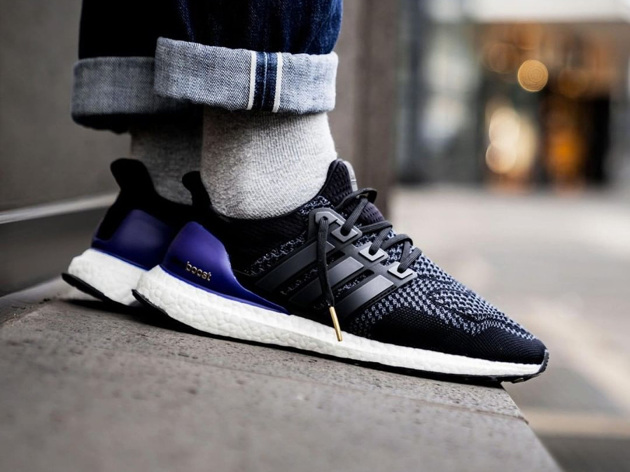 Adidas UltraBoost 1.0 OG 'Core Black Gold Purple' Retro 2018