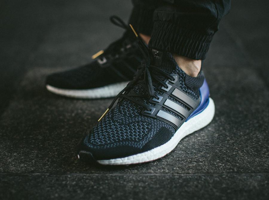 Adidas UltraBoost 1 PK noire violet et dorée on feet (4)