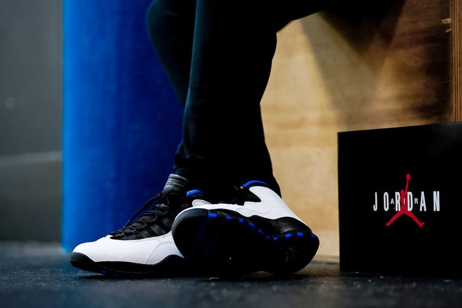 Air Jordan 10 Retro Orlando blanche noire et bleu foncé (5)
