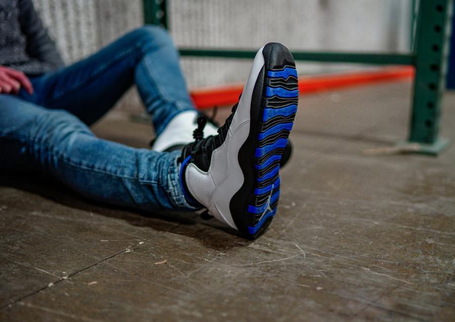 Air Jordan 10 Retro Orlando blanche noire et bleu foncé (6-2)