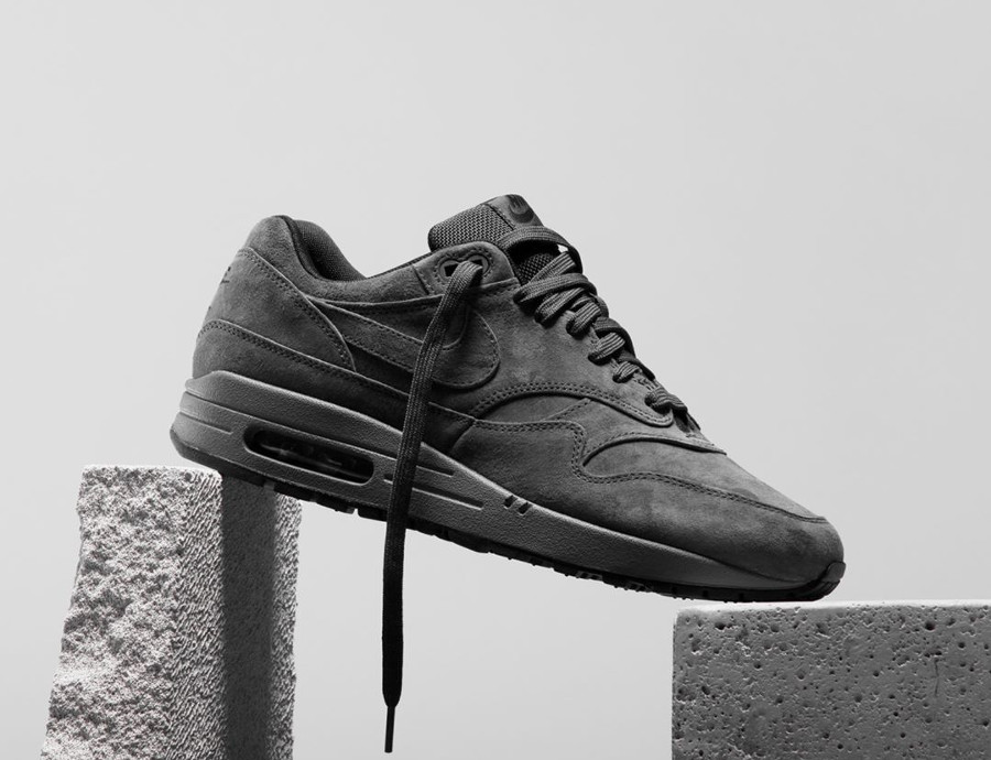 Nike Air Max 1 PRM Grise Anthracite Black Dark Grey
