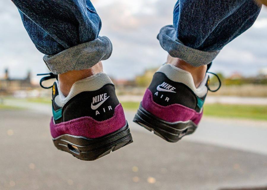 Nike Air Max 87 homme noire bordeaux et turquoise (1)