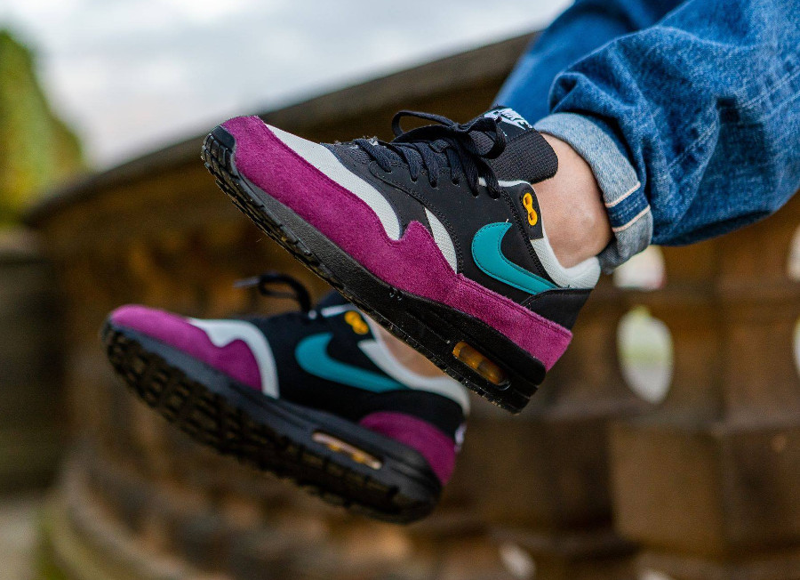 Nike Air Max 87 homme noire bordeaux et turquoise (2)