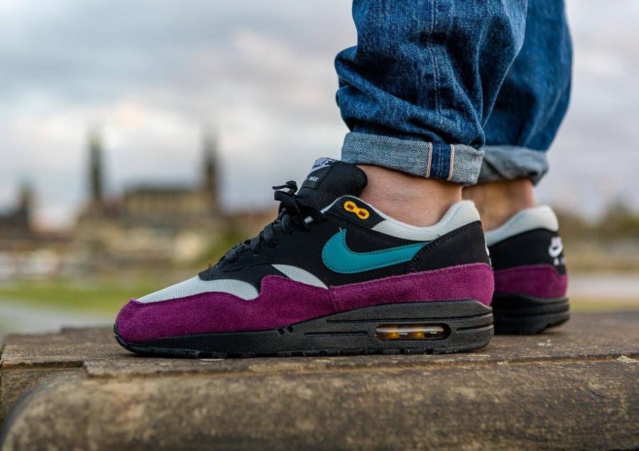 Nike Air Max 87 homme noire bordeaux et turquoise (3)