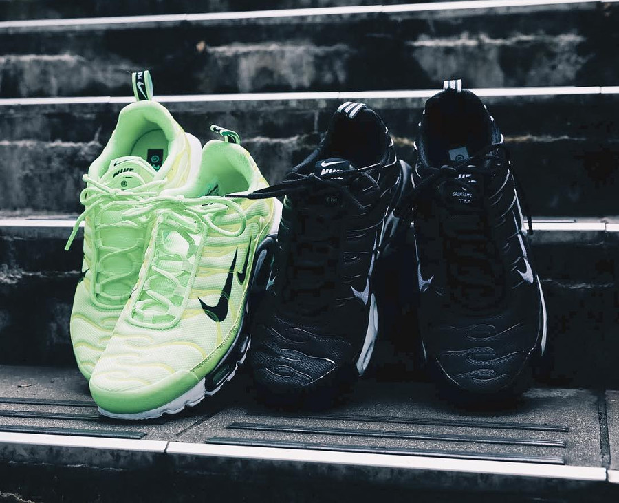 Nike Air Max Plus Premium Black & Lime 'Double Swoosh' (Micro Branded Pack)