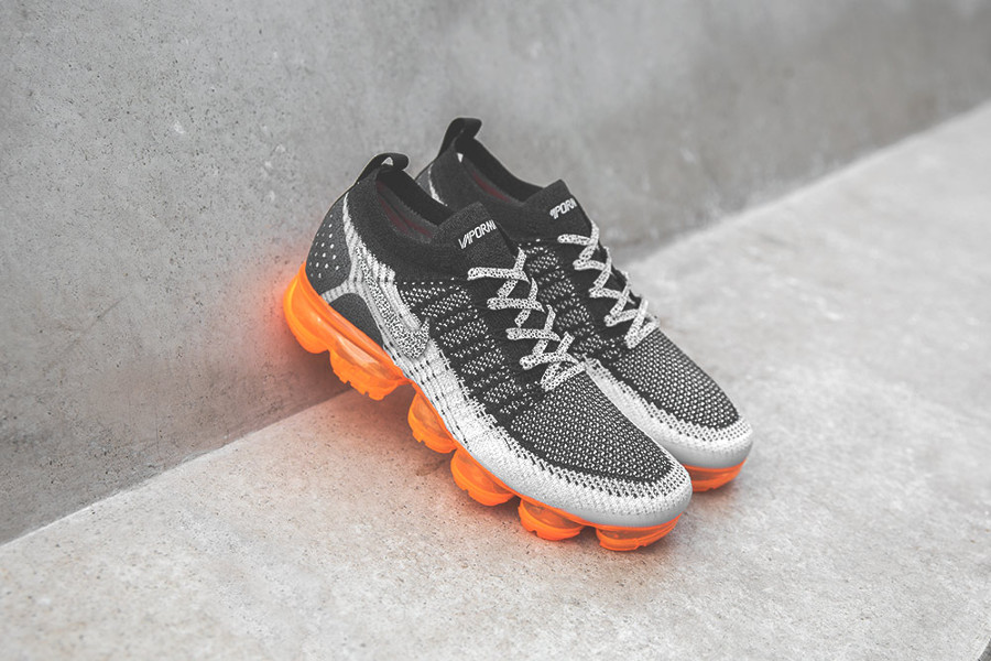 Nike Air Vapormax 2 FK noire grise et orange (imprimé animal) (1)