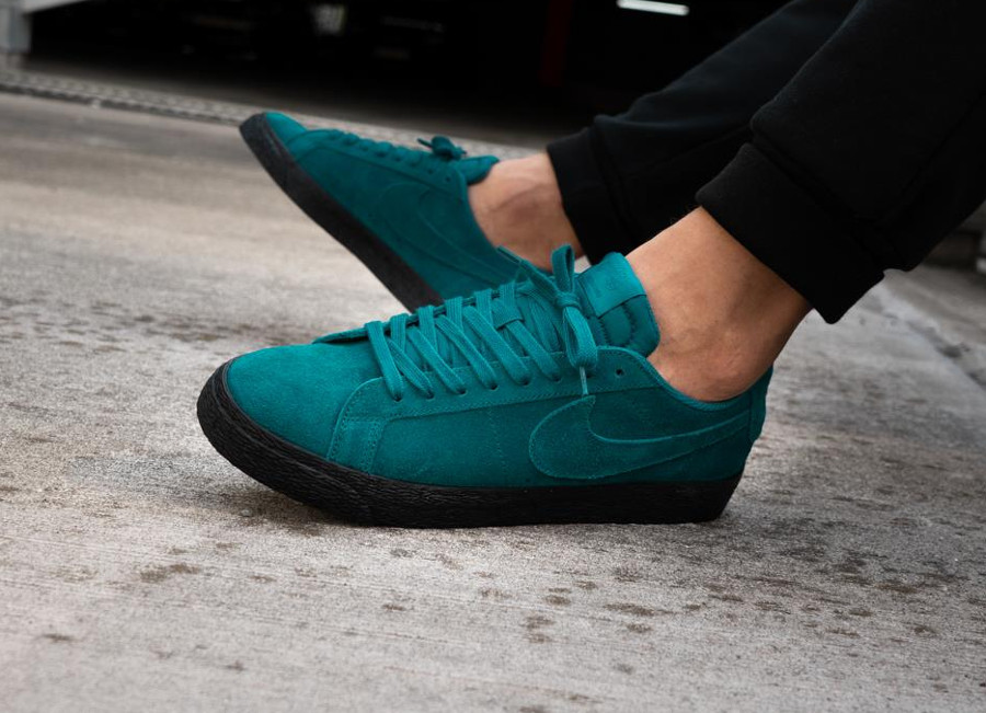 Nike Blazer SB Low Suede Geode Teal pas cher
