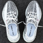 Adidas Yeezy 350 Boost V2 'Zebra' White Core Black Red