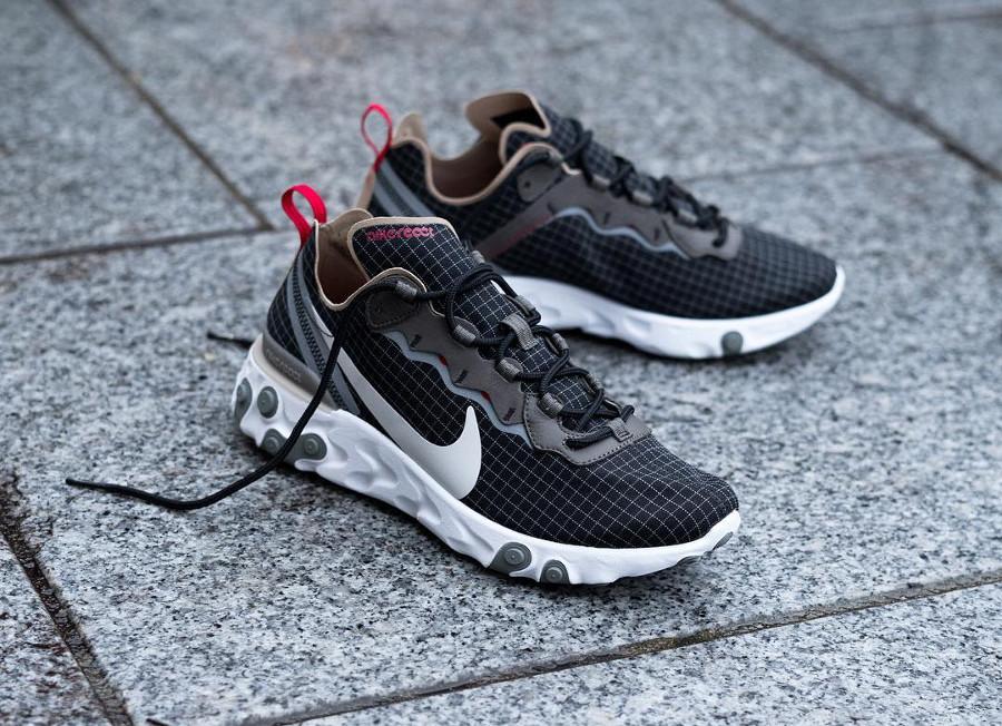 Size x Nike React Element 55 noire marron et beige (5)