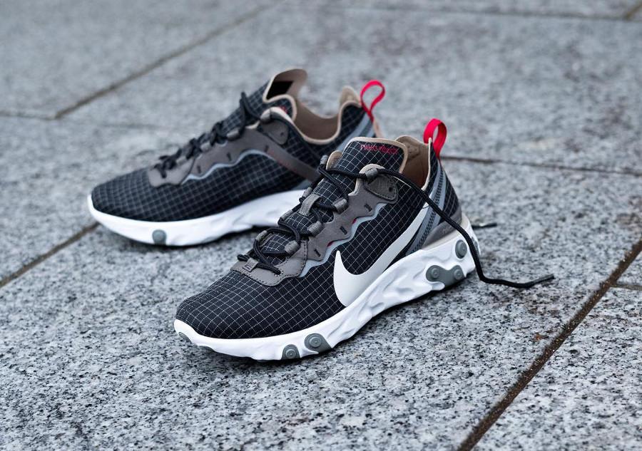 Size x Nike React Element 55 noire marron et beige (6)
