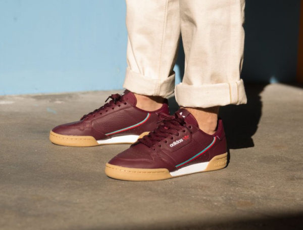 adidas continental 80 bordeaux