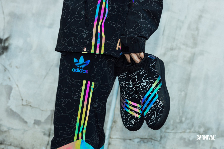 Bape x Adidas Skateboarding 3ST.002 Camo 'Core Black White'