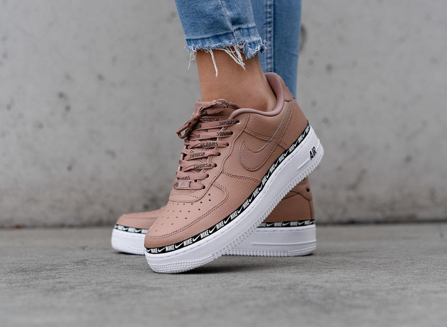 Nike Wmns Air Force 1 '07 SE Premium Overbranded 'Dust Pink'