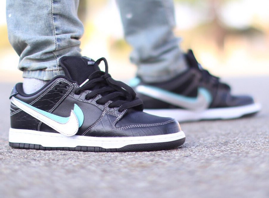Diamond Supply Co. x Nike Dunk Low Pro 'Black Tropical Twist Chrome'