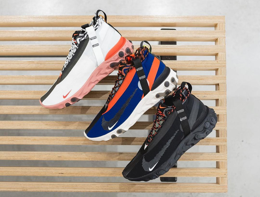 Nike React Runner Mid WR Ispa 'Summit White, Blue Void & Black'
