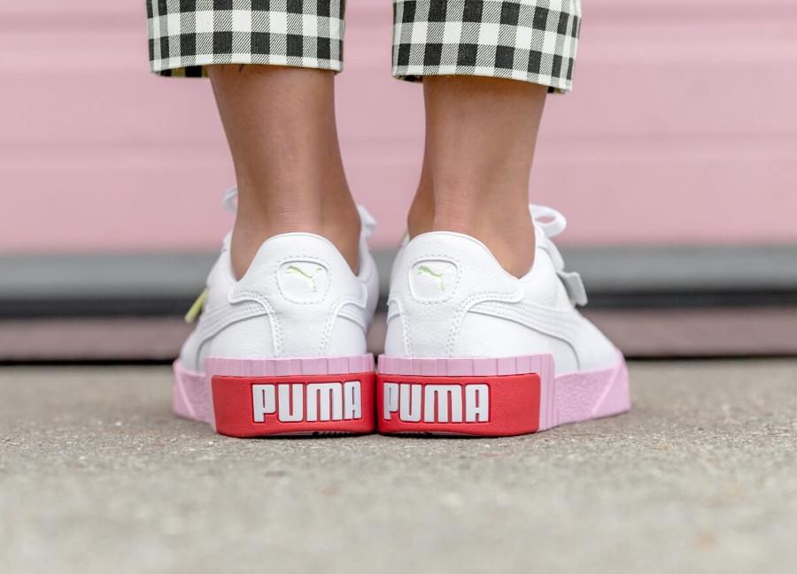 best loved 6d70e 11eda puma-womens-cali-blanche-avec-grosse-semelle-rose (