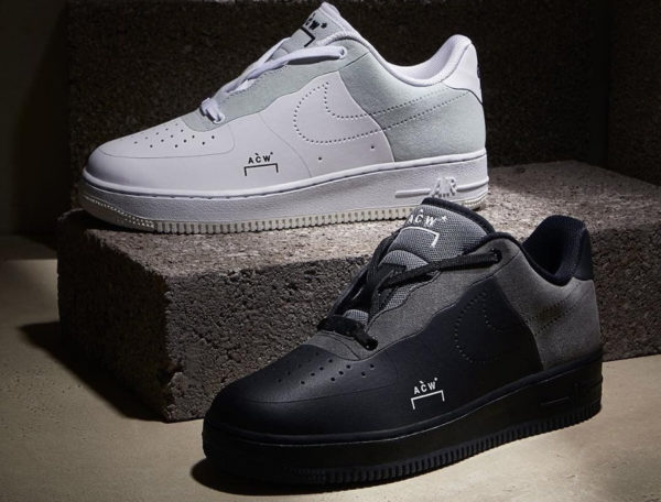 san francisco 888ec d2c8d Avis] Nike Air Force 1 Flyleather ACW A-Cold-Wall* White & Black