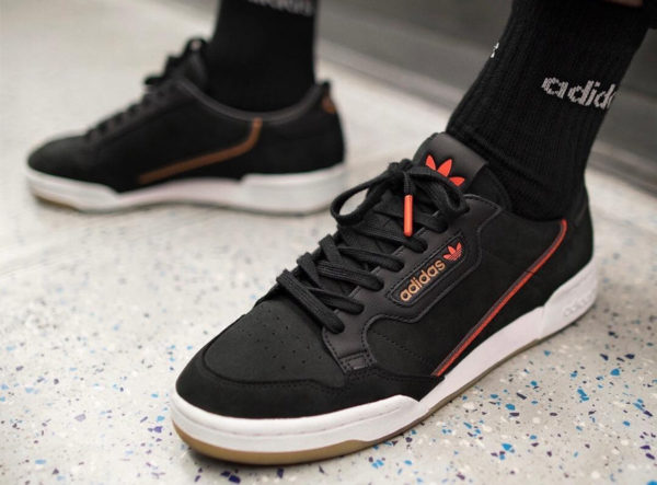 Adidas Continental 80 TFL Core Black Grey Six Bakerloo et Central