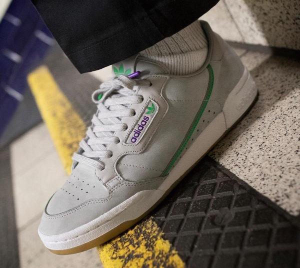 Adidas Continental 80 TFL Grey Two Gum District et Elizabethan Line