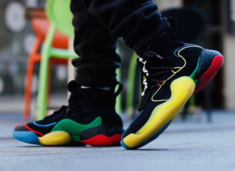 Pharrell Williams x Adidas Crazy BYW LVL X HU Black Multicolor