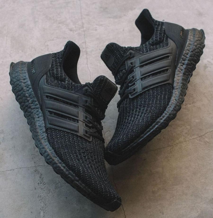 Adidas Ultra Boost Primeknit Triple Black décembre 2018 (1)