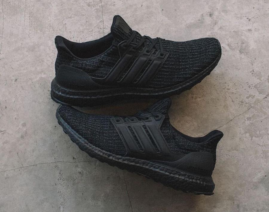 Adidas Ultra Boost Primeknit Triple Black décembre 2018 (2)