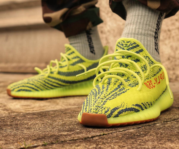 Adidas Yeezy 350 Boost V2 'Semi Frozen Yellow' restock 2018