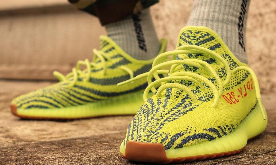 Adidas Yeezy 350 Boost V2 'Semi Frozen Yellow' restock 2018
