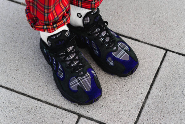 Adidas Yung-1 Plaid Tartan Pack noire Black Purple (1)