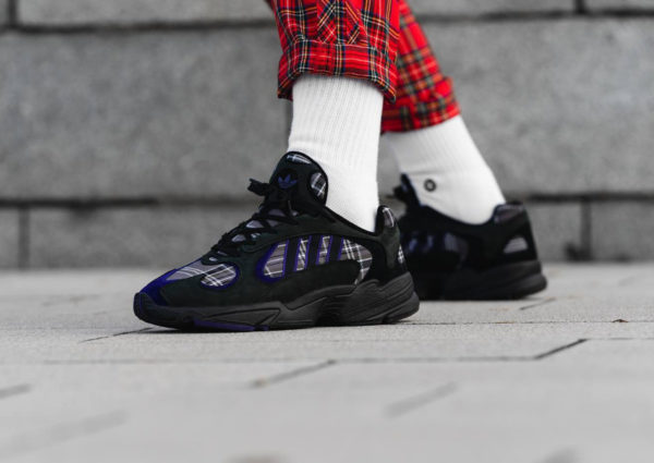 Adidas Yung-1 Plaid Tartan Pack noire Black Purple (2)