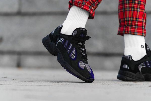 Adidas Yung-1 Plaid Tartan Pack noire Black Purple (3)