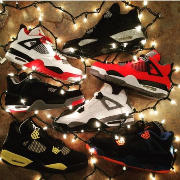 Air Jordan 4 Fire Red x Thunder x Oreo x guirlandes lumineuses - @jm_sneakers