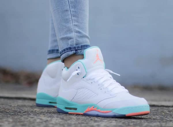 Air Jordan 5 Retro Light Aqua - @peepdeezsneaks
