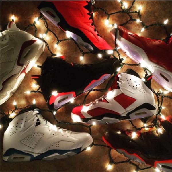 Air Jordan 6 Black Infrared x guirlandes lumineuses - @jm_sneakers