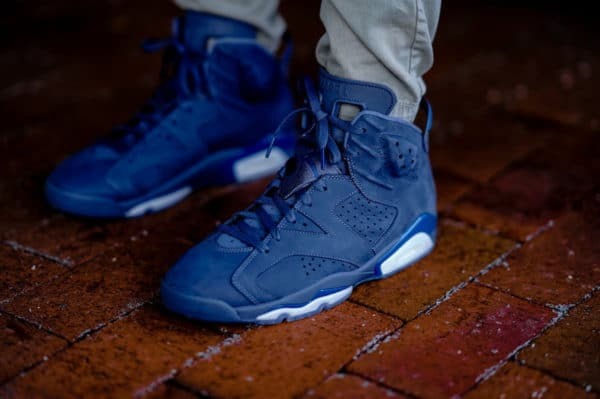 Air Jordan 6 Retro Diffused Blue on feet (2)