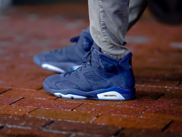 Air Jordan 6 Retro Diffused Blue on feet (4)