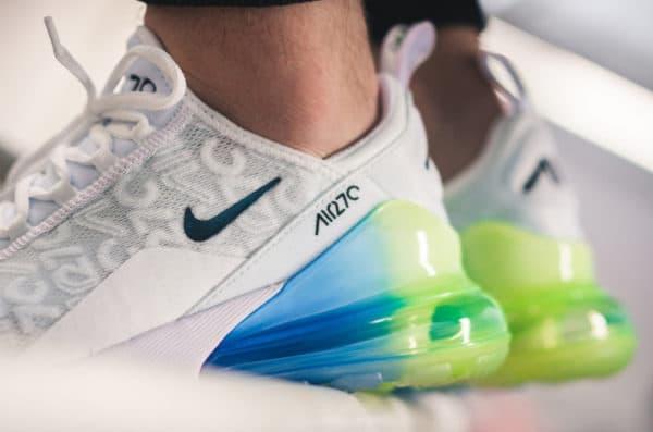 air max 270 se blanche verte et bleue