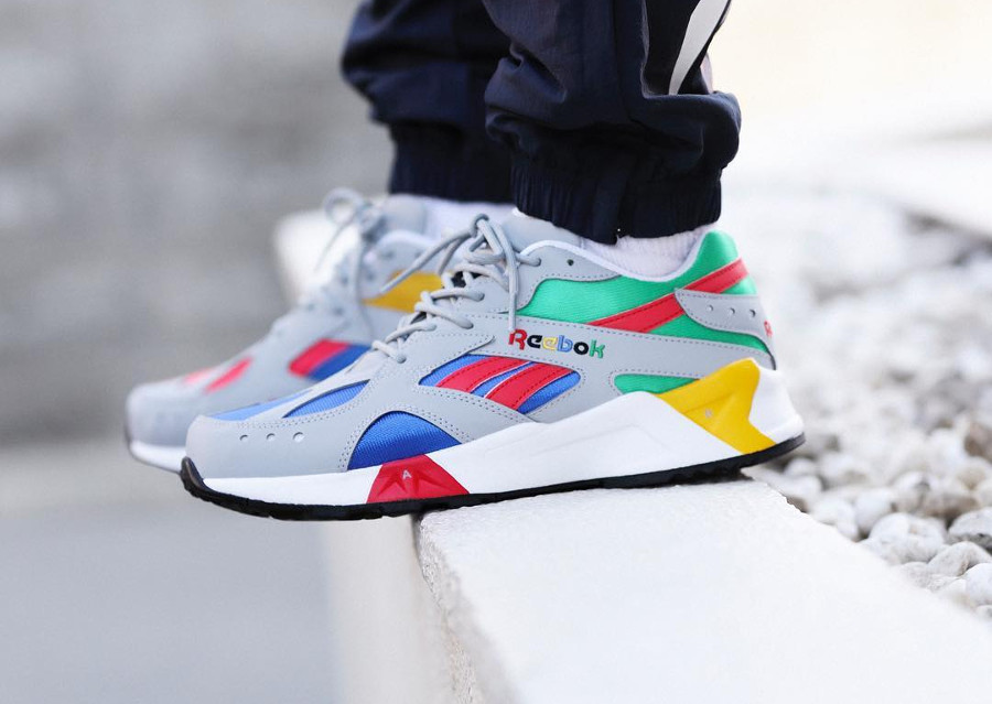 Billy's x Reebok Aztrek 'Multicolor' Grey Cobalt Big Green