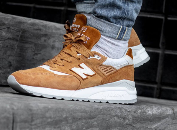 New Balance M998TCC 'Curry' Tan White Brown Sugar (made in USA)