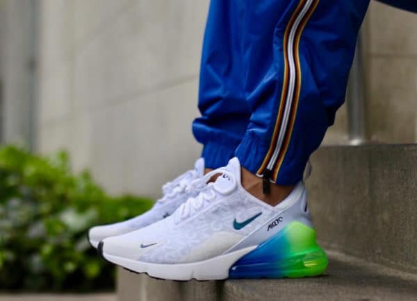 Nike Air Max 270 SE Allover Print White Explosion Green Yellow