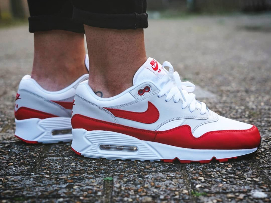 Nike Air Max 90 1 femme University Sport Red pas cher